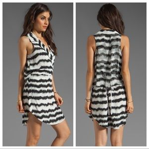 Tracy Reese sexy silk black and white mini dress